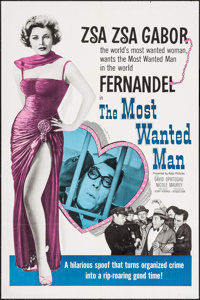 """The Most Wanted Man (Astor Pictures, 1962). One Sheet (27"""" X 41""""). Comedy"""