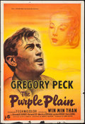 "Movie Posters:War, The Purple Plain (Rank, 1954). Trimmed British One Sheet (27"" X39.5""). War.. ..."