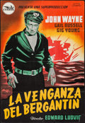"Movie Posters:Adventure, Wake of the Red Witch (Cepicsa, 1949). Spanish One Sheet (26.75"" X 39.25""). Adventure.. ..."