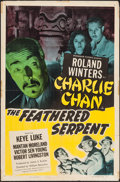 "Movie Posters:Mystery, The Feathered Serpent (Monogram, 1948). One Sheet (27"" X 41"").Mystery.. ..."