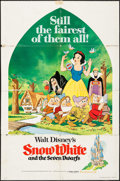 "Movie Posters:Animation, Snow White and the Seven Dwarfs & Others Lot (Buena Vista,R-1975). One Sheets (2) (27"" X 41"") and Uncut Pressbook (20Pages... (Total: 3 Items)"