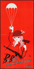 "Movie Posters:Foreign, Babette Goes to War (Columbia, 1960). French Affiche (15"" X 31"") Red Style. Foreign.. ..."