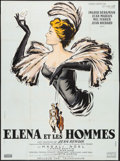 """Movie Posters:Foreign, Elena and Her Men (Cinedis, 1956). French Grande (45.75"""" X 62""""). Foreign.. ..."""
