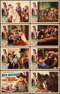 "Movie Posters:Western, Texas Gun Fighter (Tiffany, 1932). Lobby Card Set of 8 (11"" X 14""). Western.. ... (Total: 8 Items)"