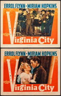 "Movie Posters:Western, Virginia City (Warner Brothers, 1940). Lobby Cards (2) (11"" X 14""). Western.. ... (Total: 2 Items)"