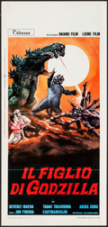 "Movie Posters:Science Fiction, Son of Godzilla (Titanus, 1969). Italian Locandina (13"" X 27.5"").Science Fiction.. ..."