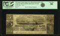 Obsoletes By State:New Hampshire, Concord, NH - Merrimac County Bank (1st) $5 August 1, 1836 Altered Note NH-35 A20. PCGS Very Fine 30.. ...