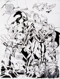 Original Comic Art:Splash Pages, Bryan Hitch and Paul Neary JLA: Heaven's Ladder Splash PageOriginal Art (DC, 2000)....