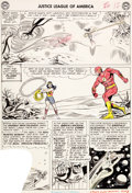 Original Comic Art:Panel Pages, Mike Sekowsky and Bernard Sachs Justice League of America#24 Page 10 Original Art (DC, 1963)....