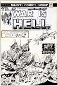 Original Comic Art:Covers, Gil Kane and Mike Esposito War Is Hell #13 Cover OriginalArt (Marvel, 1975)....