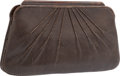 "Luxury Accessories:Bags, Judith Leiber Brown Karung Evening Bag. Very Good Condition.10"" Width x 5.5"" Height x 1"" Depth. ..."