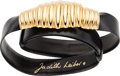 "Luxury Accessories:Accessories, Judith Leiber Black Karung Belt. Very Good Condition. 1""Width x 32"" Length. ..."