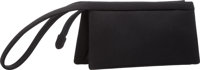 "Judith Leiber Black Neoprene Clutch Bag Excellent Condition 7.5"" Width x 3.5"" Height x 2"" Depth</..."