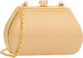 "Luxury Accessories:Bags, Judith Leiber Beige Patent Chevre Leather Evening Bag. Very Good Condition. 4.5"" Width x 3"" Height x 2.5"" Depth. ..."