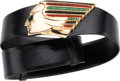 "Luxury Accessories:Accessories, Judith Leiber Black Karung Native American Belt. Very GoodCondition. 1.5"" Width x 31.5"" Length. ..."