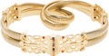 "Luxury Accessories:Accessories, Judith Leiber Gold Arrow Belt. Very Good Condition. 1"" Width x 24"" Length. ..."