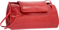 "Luxury Accessories:Bags, Judith Leiber Red Karung Shoulder Bag. Good Condition.10"" Width x 5"" Height x 2"" Depth. ..."