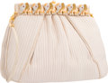 "Luxury Accessories:Bags, Judith Leiber Beige Ribbed Satin Elephant Evening Bag. Very GoodCondition. 8"" Width x 6"" Height x 1"" Depth. ..."