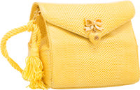 "Judith Leiber Yellow Lizard Mini Shoulder Bag Very Good to Excellent Condition 5"" Width x 4.25"" H"