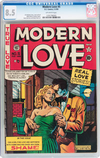 Modern Love #5 (EC, 1950) CGC VF+ 8.5 Off-white pages