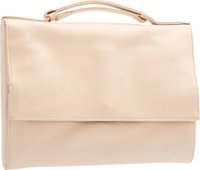 "Judith Leiber Beige Satin Evening Bag Very Good Condition 8"" Width x 6"" Height x 1"" Depth"