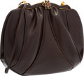 "Luxury Accessories:Bags, Judith Leiber Brown Leather Evening Bag. Very GoodCondition. 9.5"" Width x 8"" Height x 4"" Depth. ..."