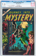 Golden Age (1938-1955):Horror, Journey Into Mystery #14 (Atlas, 1954) CGC FN/VF 7.0 Off-whitepages....