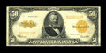 Large Size:Gold Certificates, Fr. 1200 $50 1922 Gold Certificate Fine-Very Fine. A touch ofmargin roughness from careless storage is noted....