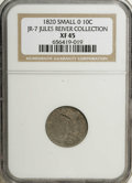 Bust Dimes: , 1820 10C Small 0 XF45 NGC. JR-7 Ex: Jules Reiver Collection. PCGSPopulation (0/7). Numismedia Wsl. Pri...