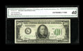 Small Size:Federal Reserve Notes, Fr. 2201-G* $500 1934 Federal Reserve Note. CGA Extremely Fine 40.. By far the most common district in the 1934 series with ...