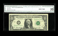 Small Size:Federal Reserve Notes, Fr. 1908-E $1 1974 Federal Reserve Note. CGA Very Fine 35.. Solid serial E11111111B on this circulated Richmond example....
