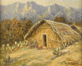 Texas:Early Texas Art - Impressionists, ROLLA TAYLOR (1871-1970). Bamboo Hut, Mexico. Oil oncanvasboard. 16in. x 20in.. Signed lower right. Titled verso.Rol...