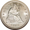 Seated Quarters: , 1853 25C No Arrows MS67 NGC. Briggs 1-A. The Guide Bookreports a mintage of more than 15 million pieces for the 1853 A...