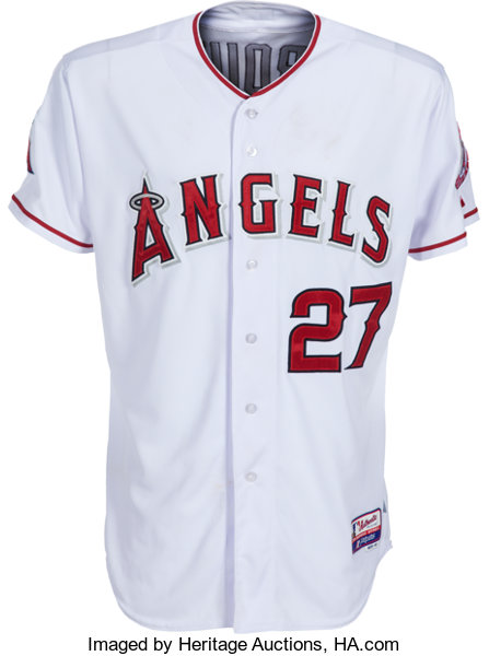 super popular f3864 0d4c6 2015 Mike Trout Game Worn, Signed Los Angeles Angels of ...