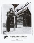 Music Memorabilia:Autographs and Signed Items, Stevie Ray Vaughan Signed Promo Photo....
