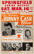 Music Memorabilia:Posters, Johnny Cash/June Carter/Statler Brothers/Carl Perkins ConcertPoster (circa 1967)....