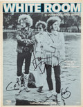 "Music Memorabilia:Autographs and Signed Items, Cream - Signed ""White Room"" Sheet Music. ..."