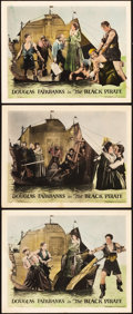 """Movie Posters:Swashbuckler, The Black Pirate (United Artists, 1926). Lobby Cards (3) (11"""" X 14"""").. ... (Total: 3 Items)"""