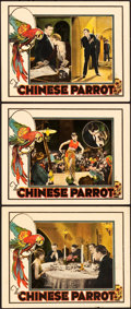 "Movie Posters:Mystery, The Chinese Parrot (Universal, 1927). Lobby Cards (3) (11"" X 14"")..... (Total: 3 Items)"