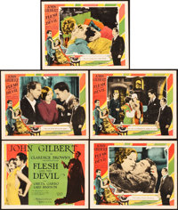 """Flesh and the Devil (MGM, 1926). Title Lobby Card and Lobby Cards (4) (11"""" X 14""""). ... (Total: 5 Items)"""