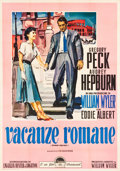"Movie Posters:Romance, Roman Holiday (Paramount, R-1956). Italian 4 - Fogli (54.5"" X 78"")Erole Brini Artwork.. ..."