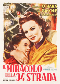 "Miracle on 34th Street (CIA, 1947). Italian 4 - Fogli (55"" X 78"") Averardo Ciriello Artwork"