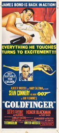 "Movie Posters:James Bond, Goldfinger (United Artists, 1964). Australian Daybill (13"" X 30"")....."