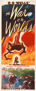 """Movie Posters:Science Fiction, The War of the Worlds (Paramount, 1953). Autographed Insert (14"""" X36"""").. ..."""