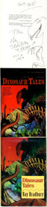 Books:Science Fiction & Fantasy, Ray Bradbury. Three Editions of Dinosaur Tales, One of Which is INSCRIBED WITH ORIGINAL DRAWING. Various pub... (Total: 3 Items)