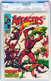 The Avengers #55 (Marvel, 1968) CGC NM 9.4 White pages