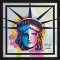 Post-War & Contemporary:Pop, Peter Max (American, b. 1937). Statue of Liberty Head, 1991.Acrylic on canvas. 28 x 28 inches (71.1 x 71.1 cm). Signed ...