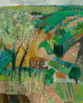 Fine Art - Painting, European:Contemporary   (1950 to present)  , Guy Bardone (French, b. 1927). Les Oliviers de Tivoli, 1964.Oil on canvas. 30-1/4 x 28-3/4 inches (76.8 x 73 cm). Signe...