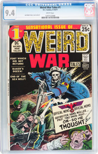 Weird War Tales #1 (DC, 1971) CGC NM 9.4 White pages
