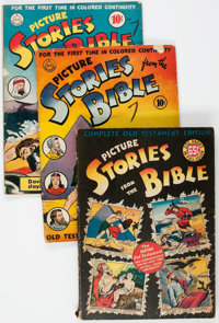Picture Stories from the Bible Group of 6 (EC/DC, 1942-46) Condition: Average GD.... (Total: 6 Comic Books)